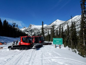 Road equipment at Washington Pass. WSDOT photo