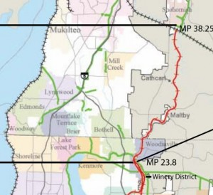 Proposed rail-trail connection between Woodinville and Snohomish