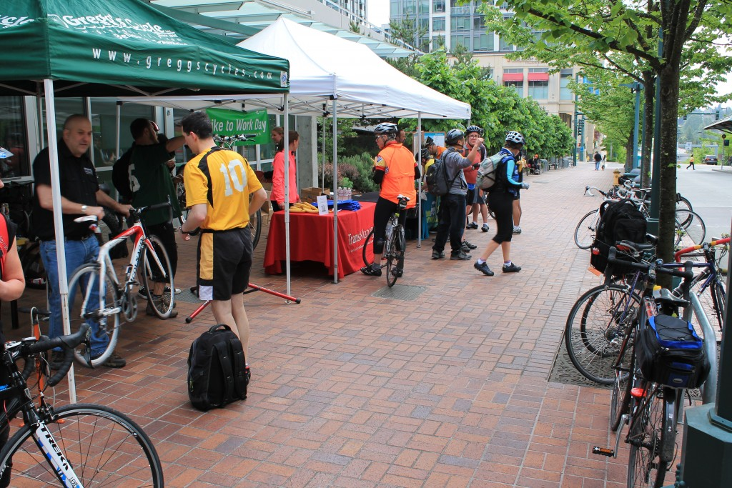 Bike to Work at Bellevue Transit Center 2014