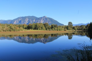 View from the mill pond gap in Snoqualmie