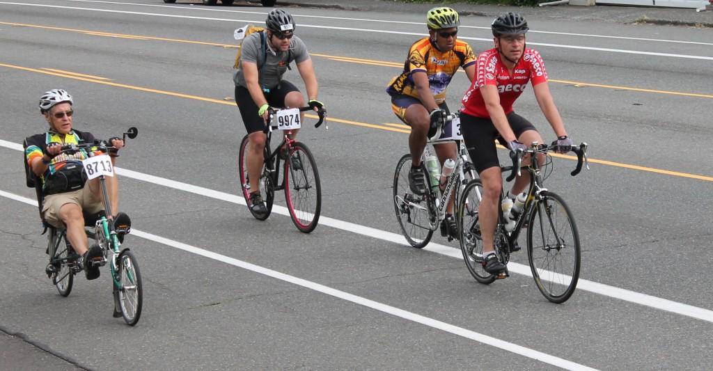 STP cyclists