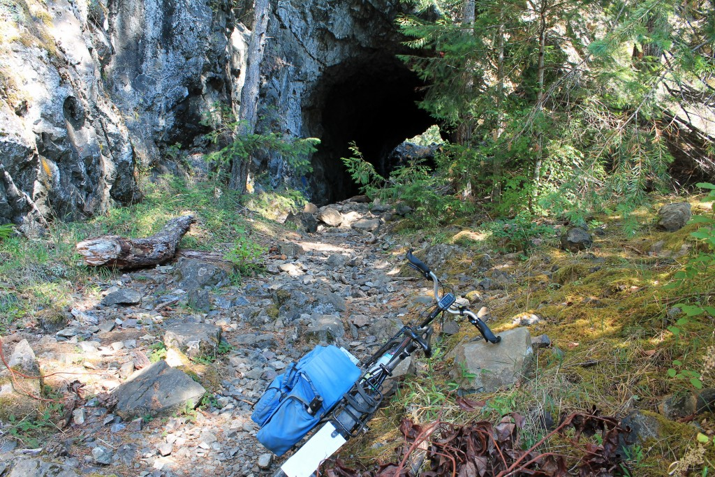 A closed tunnel on Spruce Railroad trail