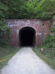One of the many tunnels on the North Bend Trail in  West Virginia.