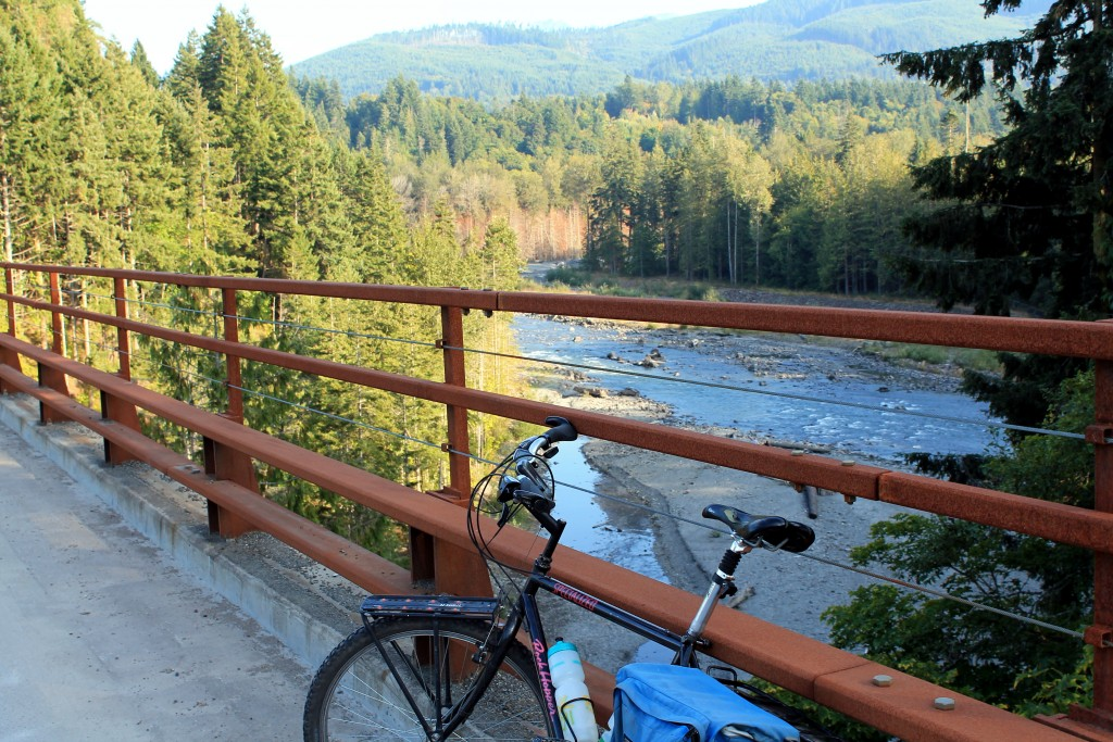 Olympic Discovery Trail bridge over the Elwha River