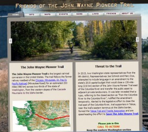 John Wayne Pioneer Trail website