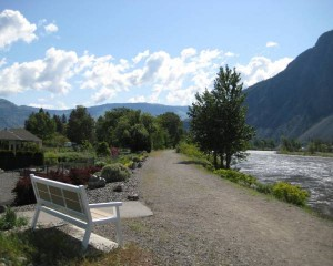 The rail-trail along Similkameen River near Oroville.