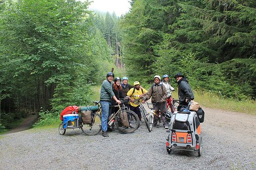 Bike campers on John Wayne Pioneer Trail - 2012