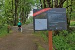 Sign tells of temporary opening on Snoqualmie Valley Trail