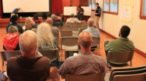 Presentations at state parks trail meeting in Preston on Tuesday