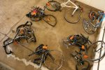 The force of the crash can be seen in bicycles collected at the scene