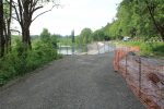 The work zone on the Snoqualmie Valley Trail this spring