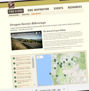 Oregon Scenic Bikeways created by state tourism bureau