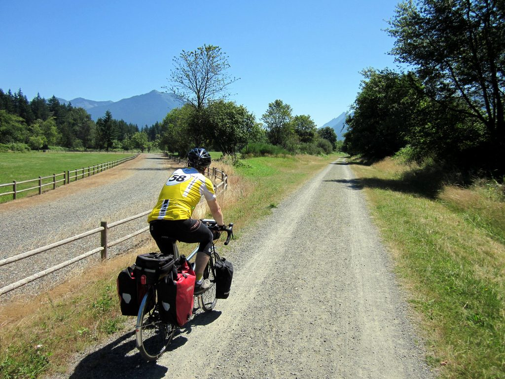 Loaded touring on Snoqualmie Valley Trail
