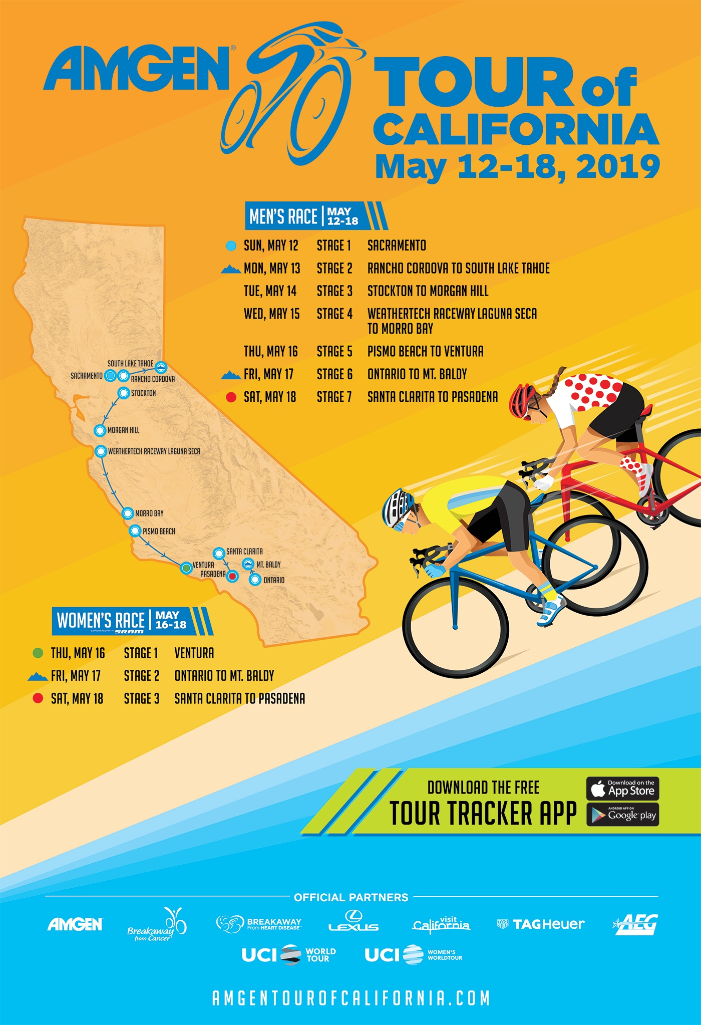 Tour Of California Bike Race Host Cities Announced For