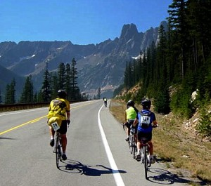 Climbing a pass in Cascades