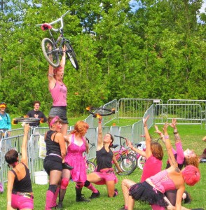 Sprockettes perform at Tour de Fat in Seattle