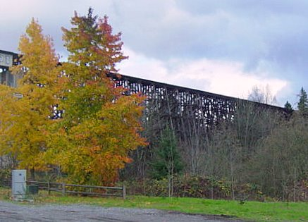 Wilburton Bridge: 100 feet high and 1,000 feet long
